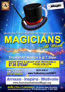 Magicians At Work Show @ Bridie O'Reilly's | Arlington | Tennessee | United States