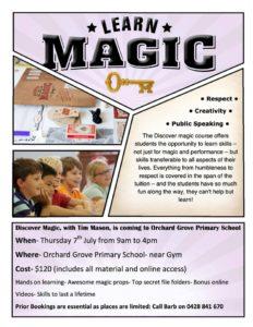 Learn Magic - Melbourne Magic Academy @ Orchard Grove Primary School   Blackburn South   Victoria   Australia