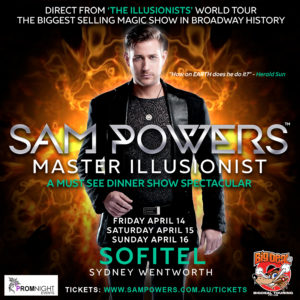 Sam Powers Master Illusionist @ Sofitel Sydney Wentworth