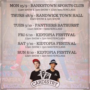 Cardistry on Tour @ Randwick Town Hall | Bankstown | New South Wales | Australia