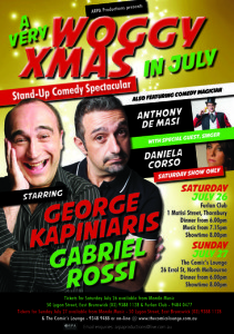 A Very Woggy Christmas in July @ The Comic's Lounge | North Melbourne | Victoria | Australia