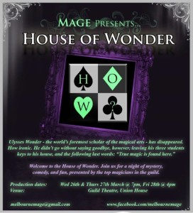 MAGE presents House of Wonder @ Union Theatre | Parkville | Victoria | Australia