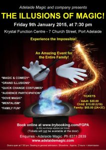 The Illusions of Magic @ Krystal Function Centre | Port Adelaide | South Australia | Australia