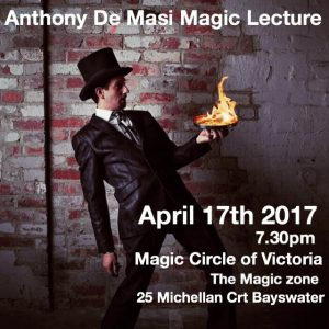 Antnony DeMasi Lecture @ The Magic Zone | Bayswater | Victoria | Australia
