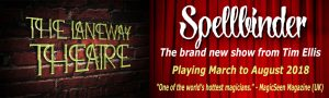 Spellbinder at The Laneway Theatre @ The Laneway Theatre - Northcote | United Kingdom