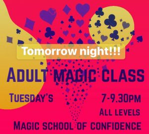 Adult Magic Classes @ The Magic School of Confidence